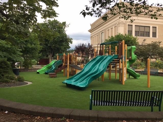 Bloomfield S New Playground Playground Surfaces
